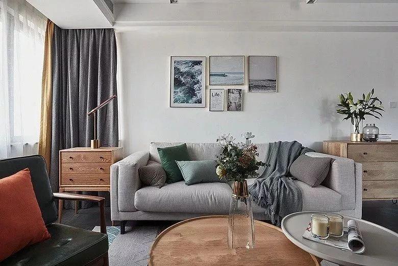 现代北欧风格装修效果图:客厅
