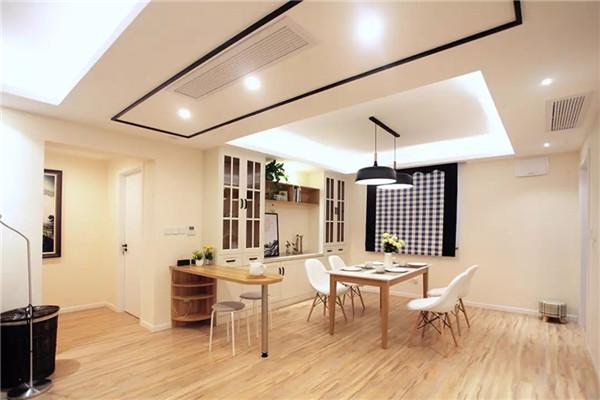 110平现代简约风格装修,原木色打造时尚现代小屋