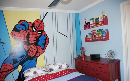 儿童房手绘墙装饰设计