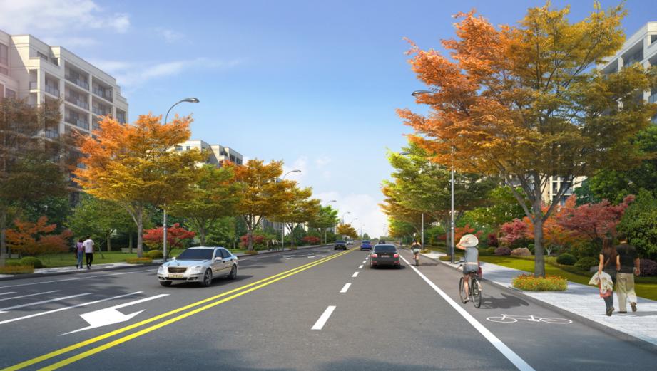 道路景观绿化图片_道路绿化景观设计_别墅绿化景观效果图