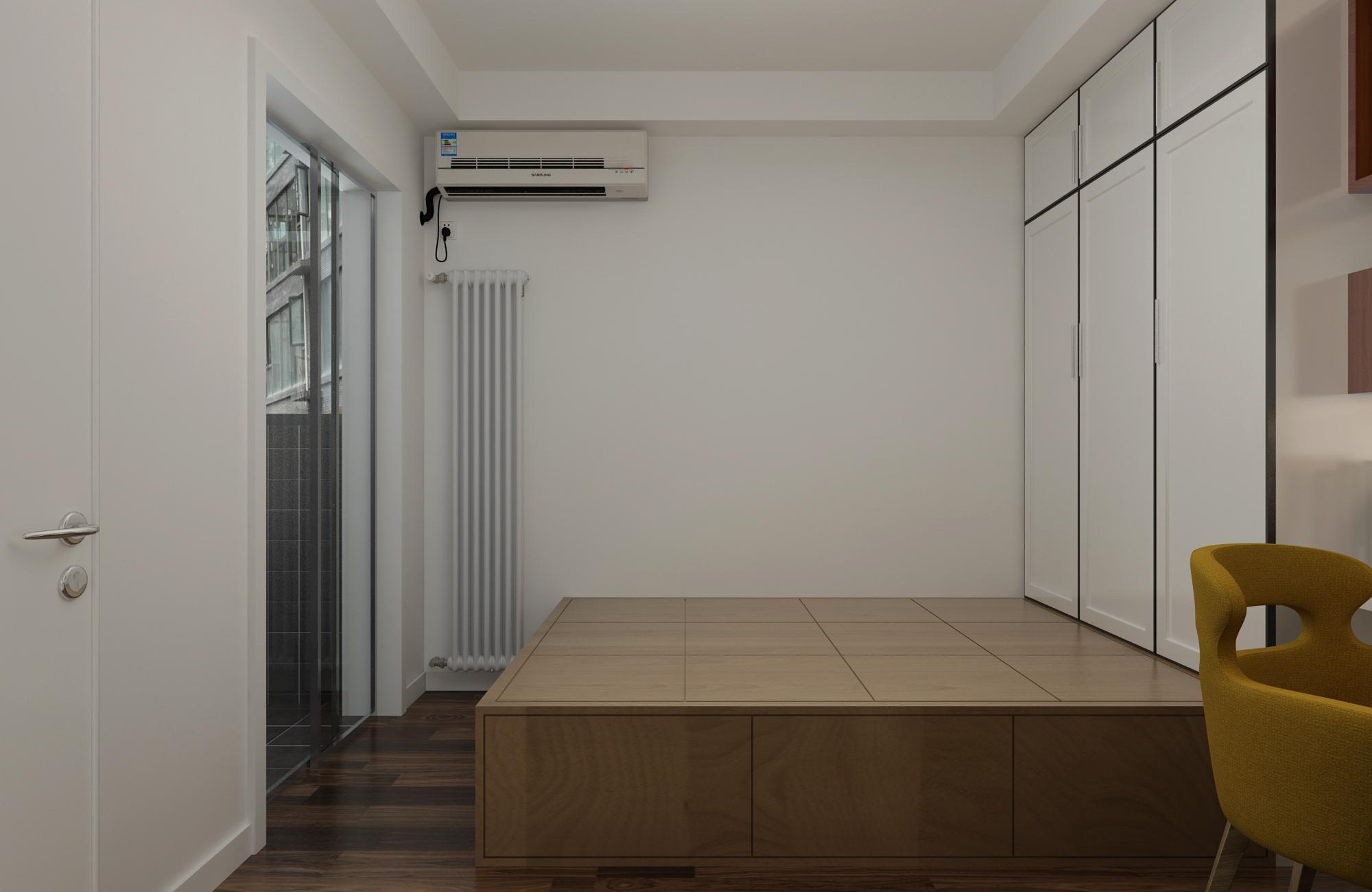 设计作品 详情页  床下暗藏着超大的储物暗格及内嵌似的衣柜,节省了