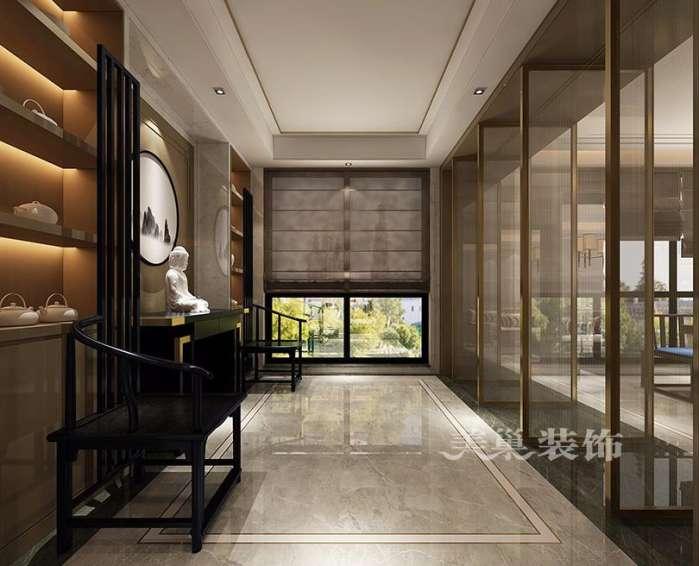 美巢设计蓝城兰园五室大平层装修效果图 茶室阳台get到了啥