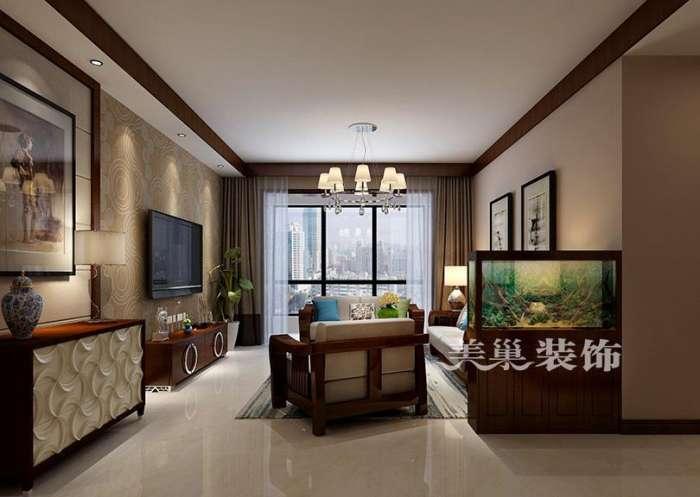郑州九龙城120平三室两厅户型装修设计布局——河南美巢装饰