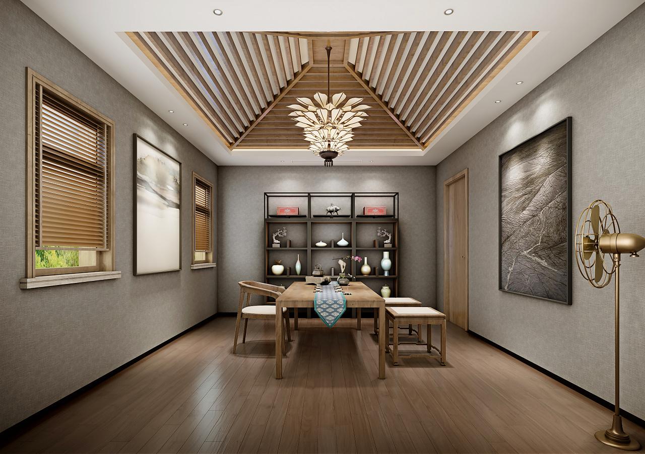 别墅现代茶室装修效果图