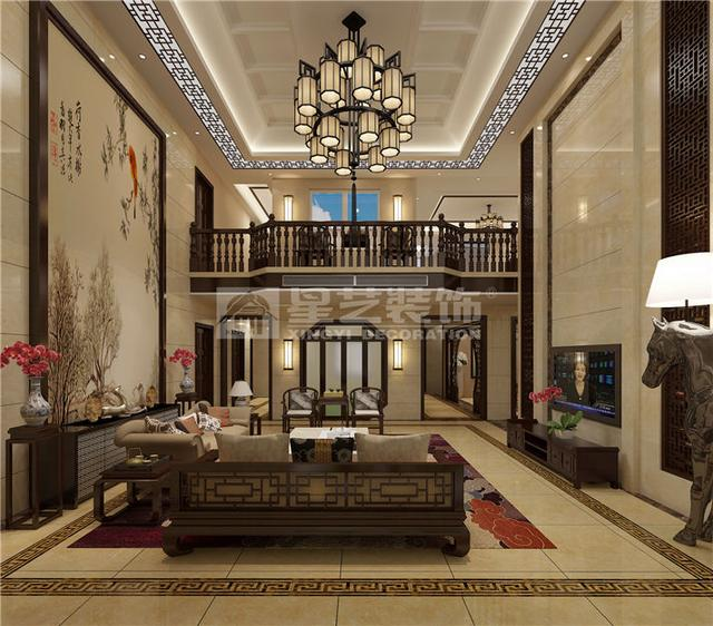 中航城120平别墅改280平,现代新中式风格装修花园设计图片大全联排别墅重庆图片
