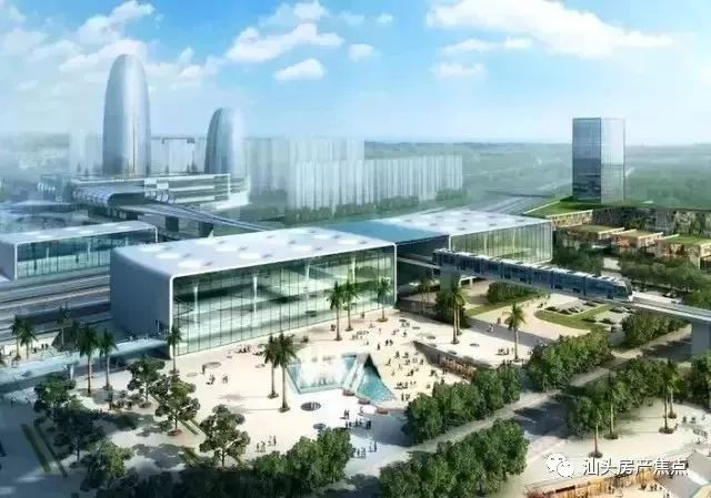 新东站房,东广场设计概念图,汕头站除了接入广梅汕铁路外,未来还将