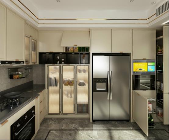 文章    我乐橱柜—哈布斯堡系列   厨房小,电器多   冰箱,烤箱,消毒