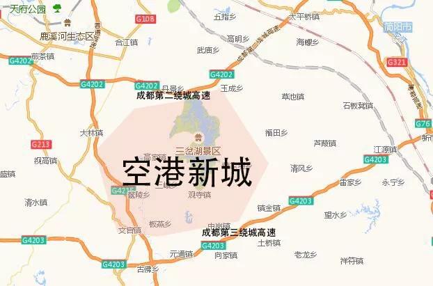 简阳乡镇地图高清版