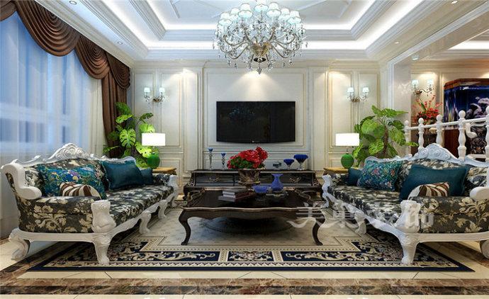 380平四室别墅洋房 欧式古典风 郑州美巢装饰  设计要求: 家庭古老