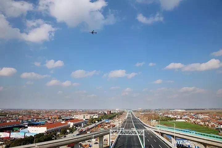 图片来自南通日报 南通机场大道路线总长5.