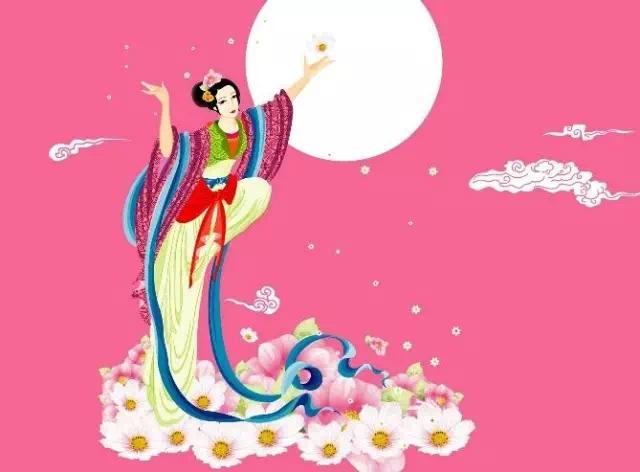 中秋节传说故事一:嫦娥奔月图片
