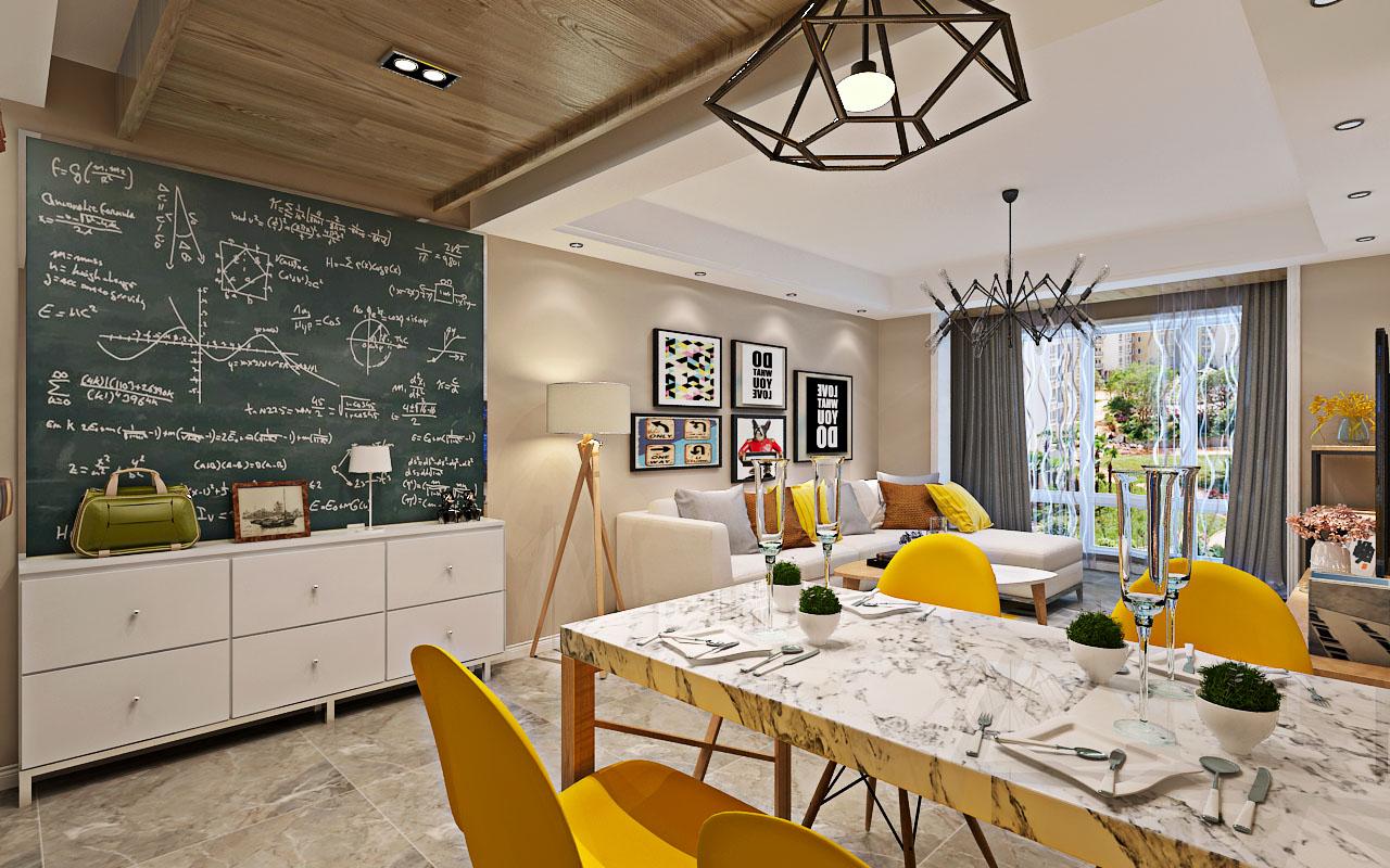 华天雨润装饰红星威尼斯庄园2室1厅1卫51平米北欧设计图片
