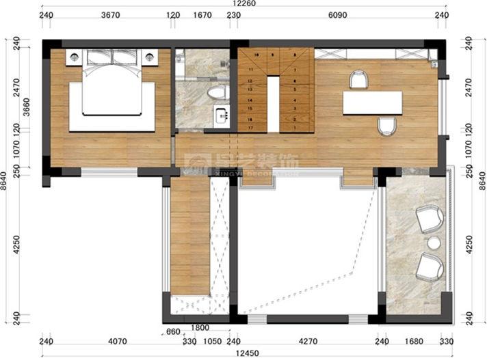 中航城新中式别墅 120平扩容260平灵动筑造贵中别墅最的威海市图片