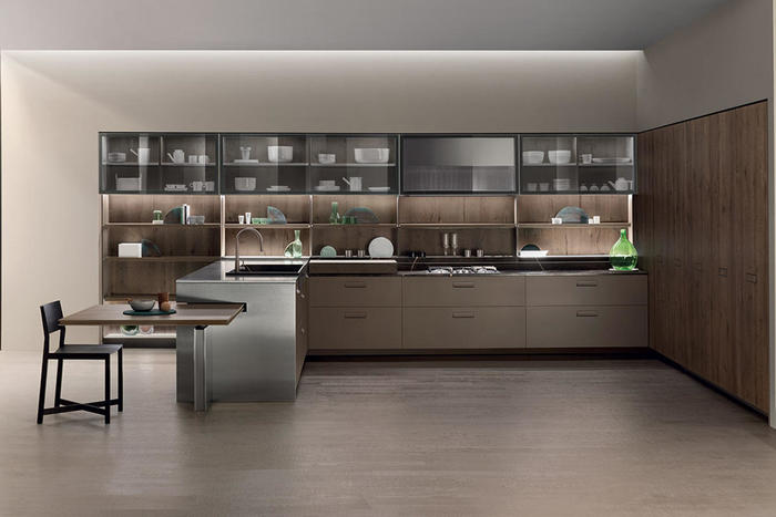在厨房设计上,可通过引入高端先进的技术,来提高厨房设计的合理性与