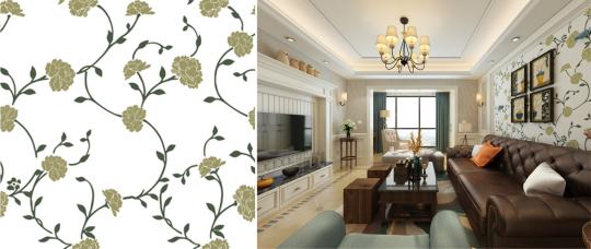 漂亮家装,5种不容错过的美式风格蓝天豚硅藻泥背景墙!图片