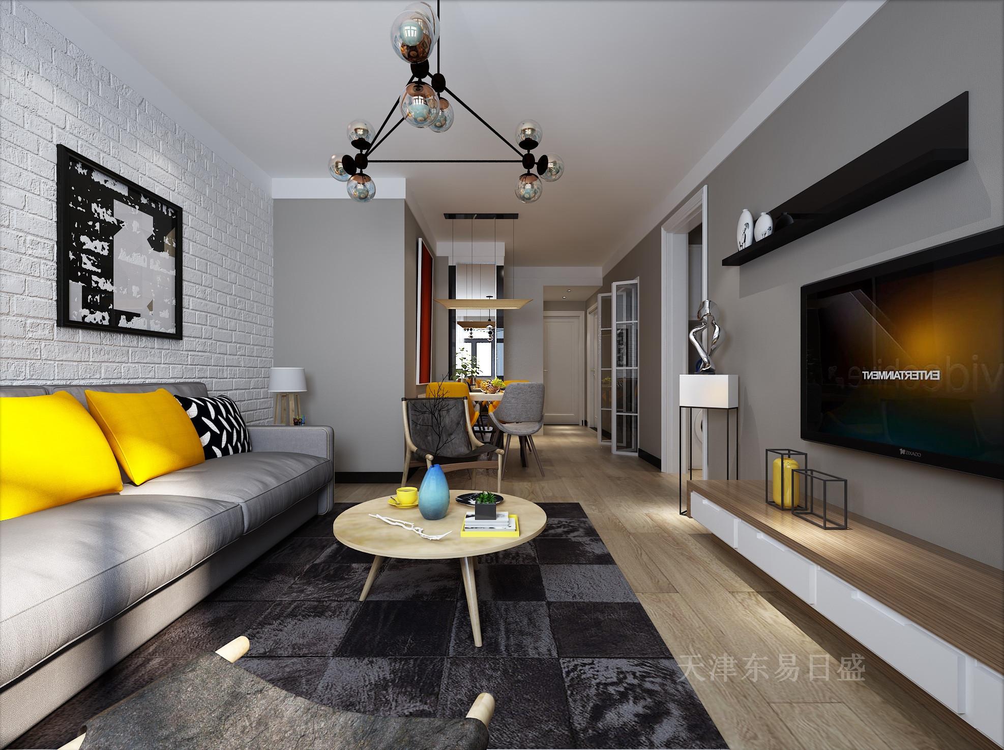 95平米北欧风格三室装修效果图,自然清新,轻松和谐的氛围