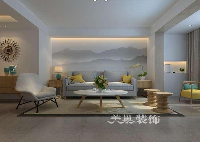 美巢阳光城192平复式楼装修效果图 极简中式风休息室赢了