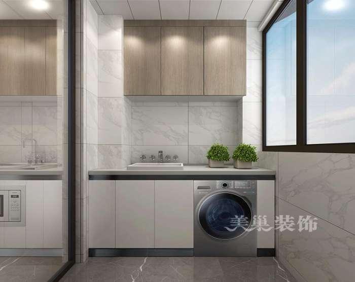 装修攻略 硬装 文章    设计理念:奢华大厨房阳台做生活用,案例出自郑