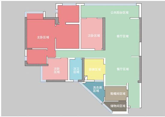 贵阳万科公园传奇27/28/29栋5号户型结构分析和方案解析 万科公园传奇 户型 装修 第11张
