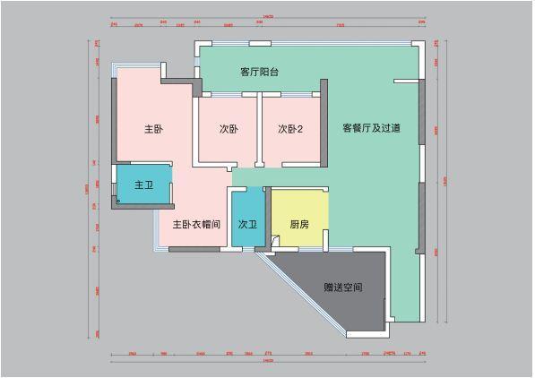 贵阳万科公园传奇27/28/29栋5号户型结构分析和方案解析 万科公园传奇 户型 装修 第2张