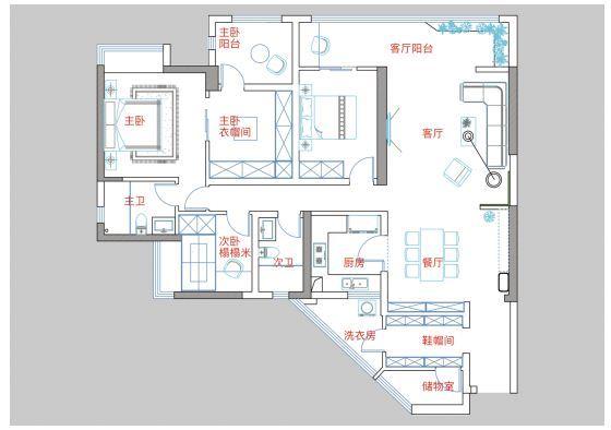贵阳万科公园传奇27/28/29栋5号户型结构分析和方案解析 万科公园传奇 户型 装修 第10张