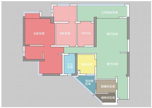 贵阳万科公园传奇27/28/29栋5号户型结构分析和方案解析 万科公园传奇 户型 装修 第9张