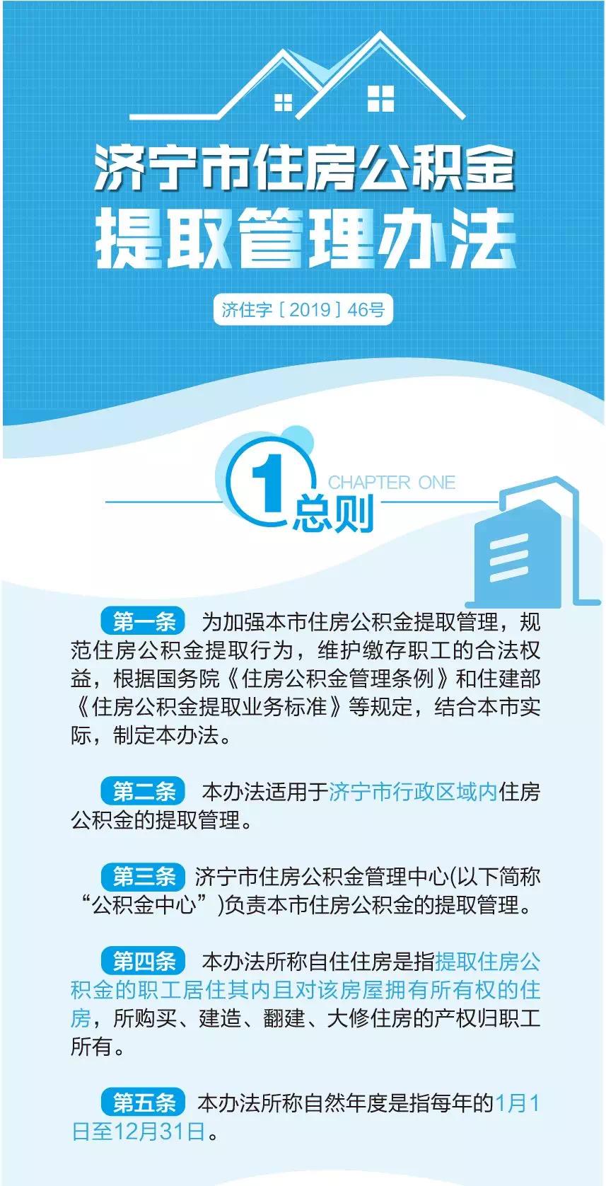 最新!济宁市住房公积金提取管理办法发布