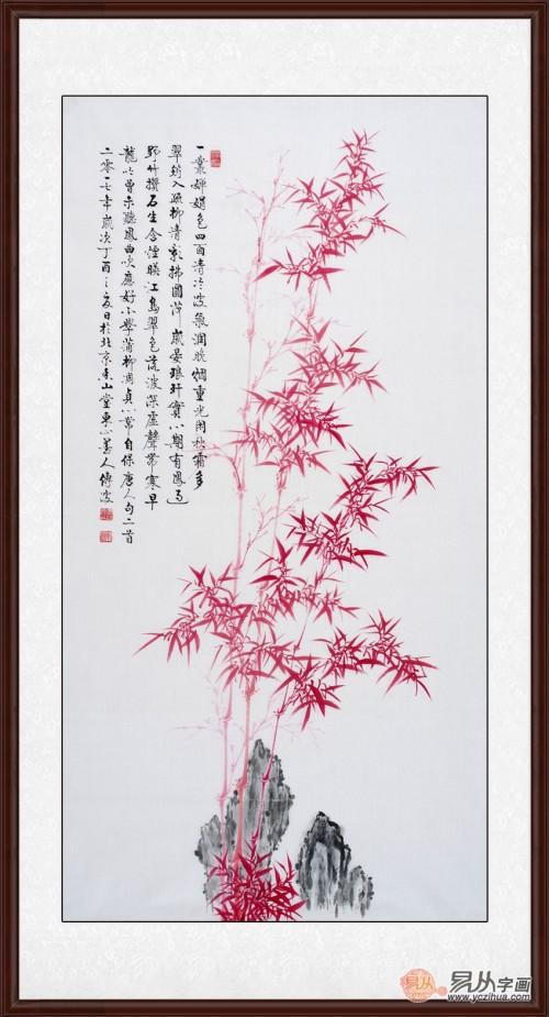 家里玄关处挂什么画好 开门见国画竹子寓意平安节节高