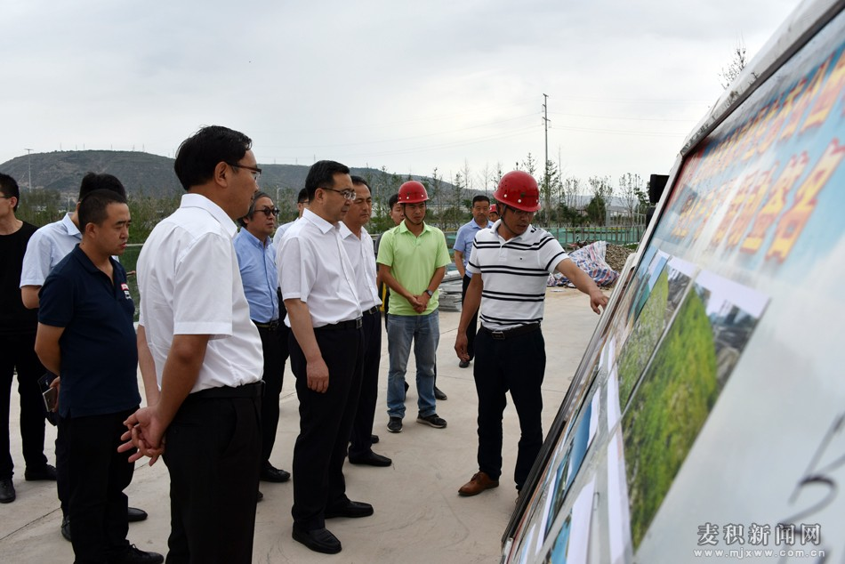 天水麦积考察团兰州考察恒大地产公司及深圳铁汉生态公司有关项目