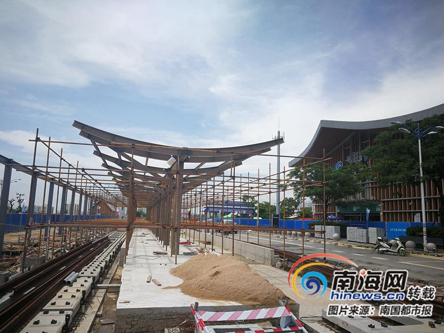 有轨电车三亚站台拟10月1日前完工