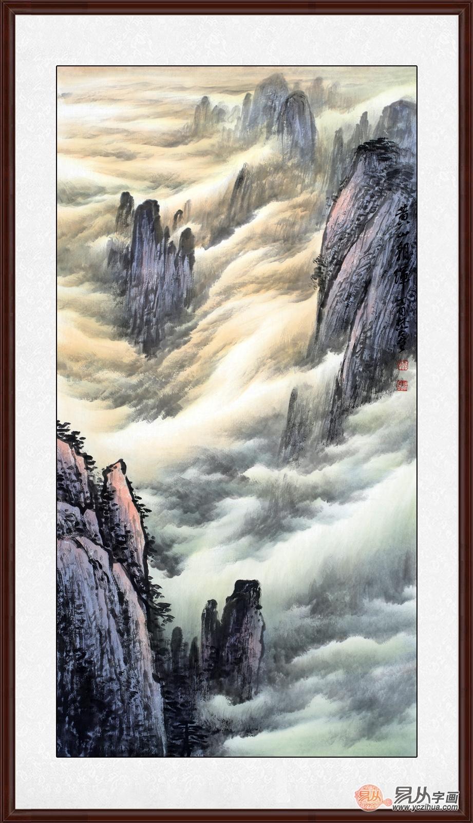 简约风家装装饰画推荐:为山水画的丰富含义竖大拇指,真不简单!