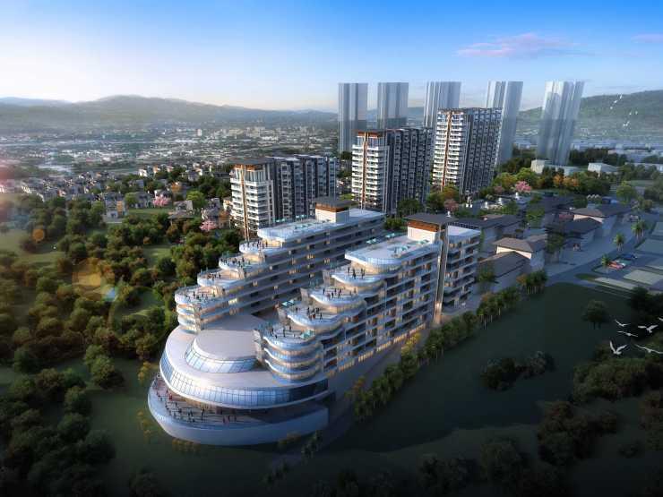 富力月亮湾项目在售:滨海休闲区 均价为11000元/平米