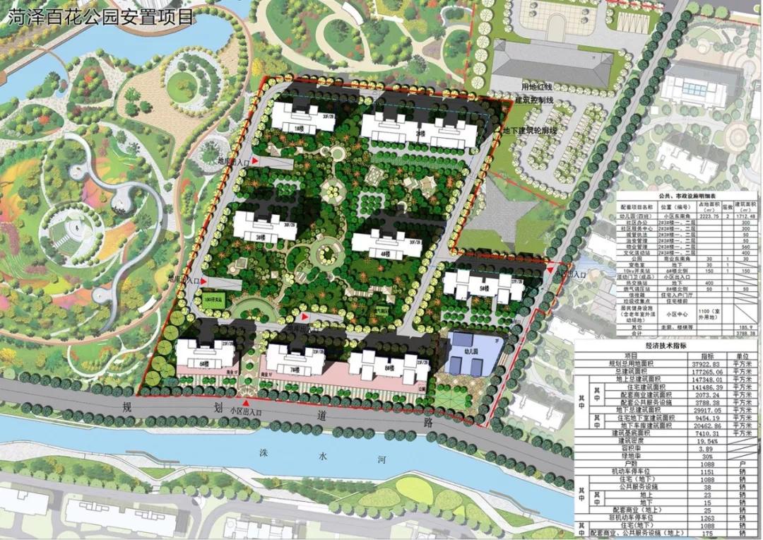菏泽城区百花公园安置区规划设计方案发布!看看您满意吗?