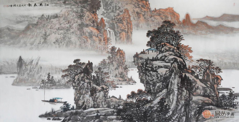「软装」高颜值卧室装饰画盘点,山水画不可忽略的美
