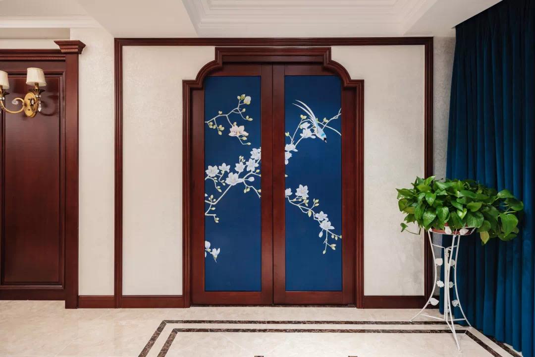 新中式轻奢风格经典设计:一扇门,两个世界,两种生活, 新中式 装修 第9张