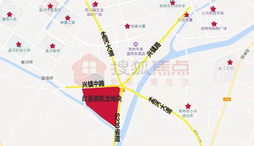 楼面价1726.4元/平 嘉宏竞得新北区孟河镇红星美凯龙地块