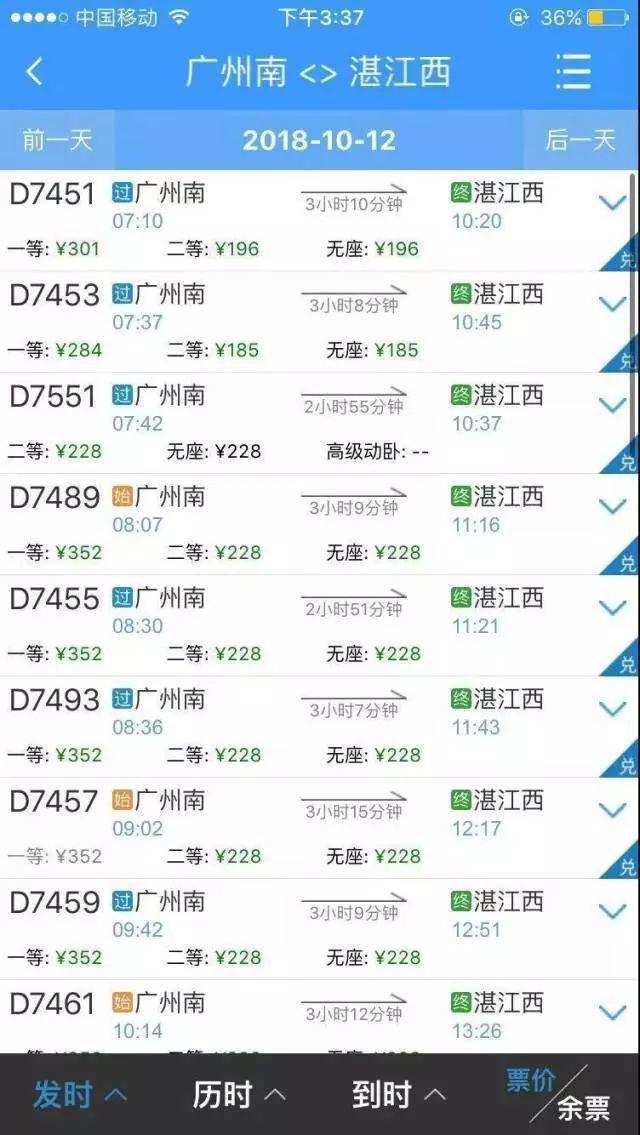 中山往返粤西省钱了!江湛铁路这些站点票价要降了!