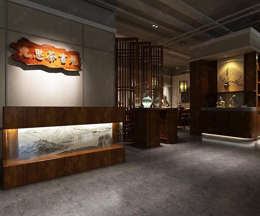 禅意古风 优雅温馨的中式茶书院设计