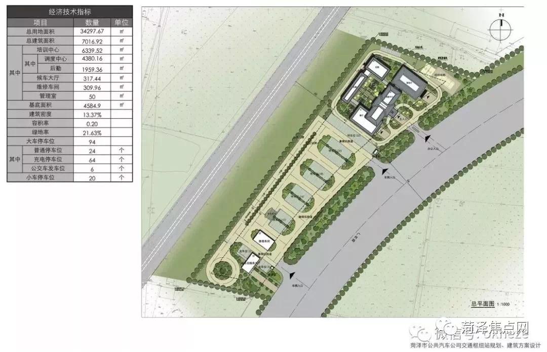 关于菏泽市公共汽车公司交通枢纽站规划设计方案的批前公示
