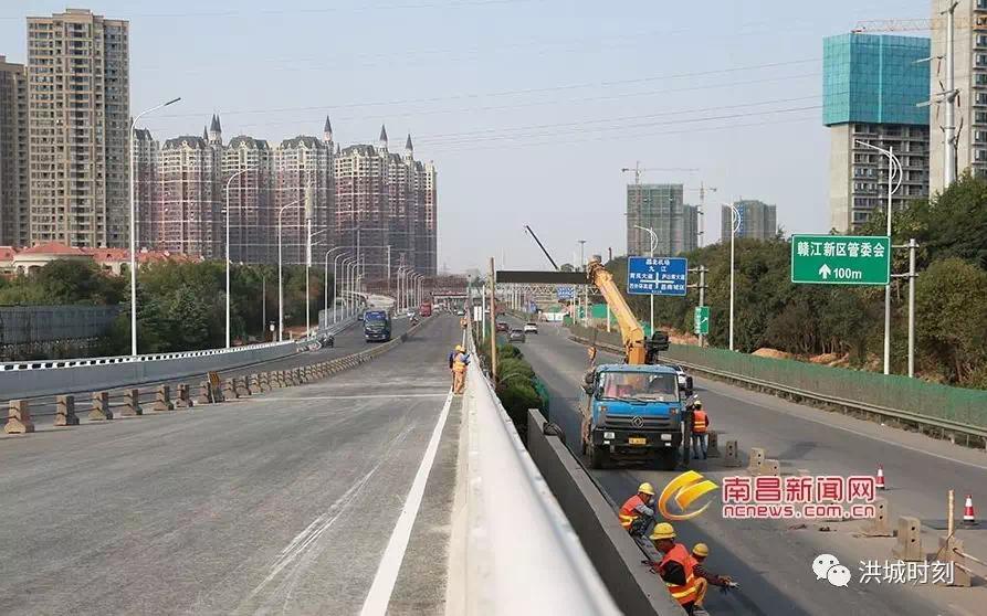 昌九大道快速路改造二期工程部分路段通车!全线预计明年8月通车