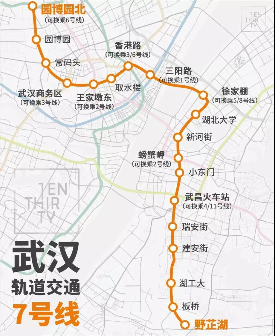 武汉地铁7号线正式试运行!可达18处地标39所学校