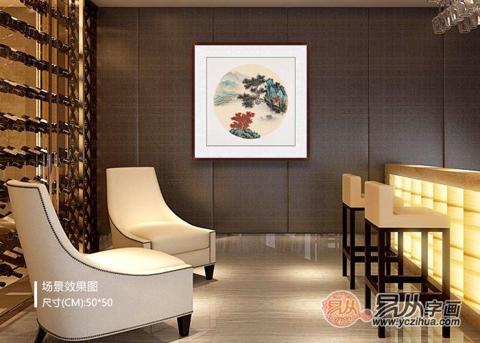 新中式背景墙软装,山水画美到令人无法拒绝!