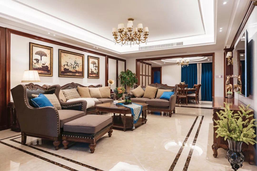 新中式轻奢风格经典设计:一扇门,两个世界,两种生活, 新中式 装修 第3张