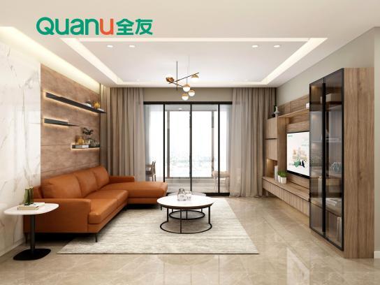 《【摩登3网上平台】几款客厅背景墙设计方式 全友提升您家的空间格调》