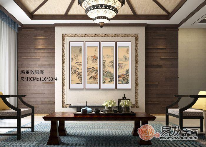 中式茶楼,软装攻略看过来,每一幅装饰画都美得不像话!