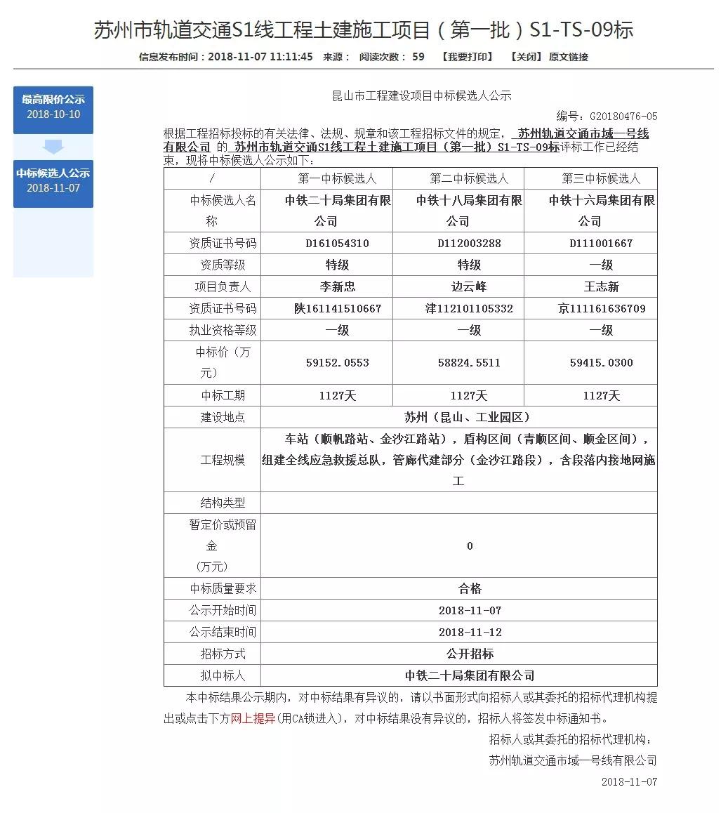 【好消息】 昆山S1号线最新进度已公示!