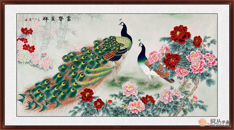 客厅挂画的选择太重要,王一容的手绘花鸟画美极了