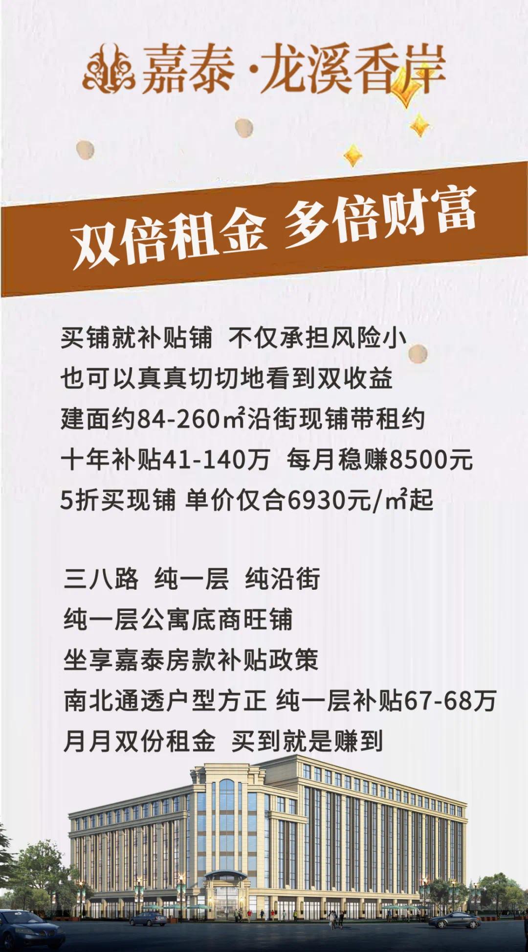 龙溪香岸买铺补贴40-68万送汽车!仅3台抢到赚到