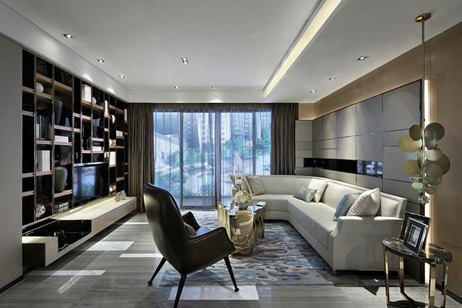 别墅客厅设计:没有电视的客厅背景墙这么布置更美观