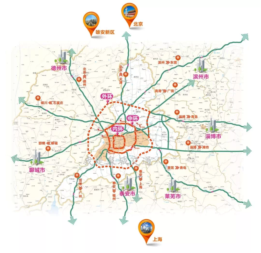 """来看""""三环十二射""""规划:济泰高速济南段2020年6月建成通车"""